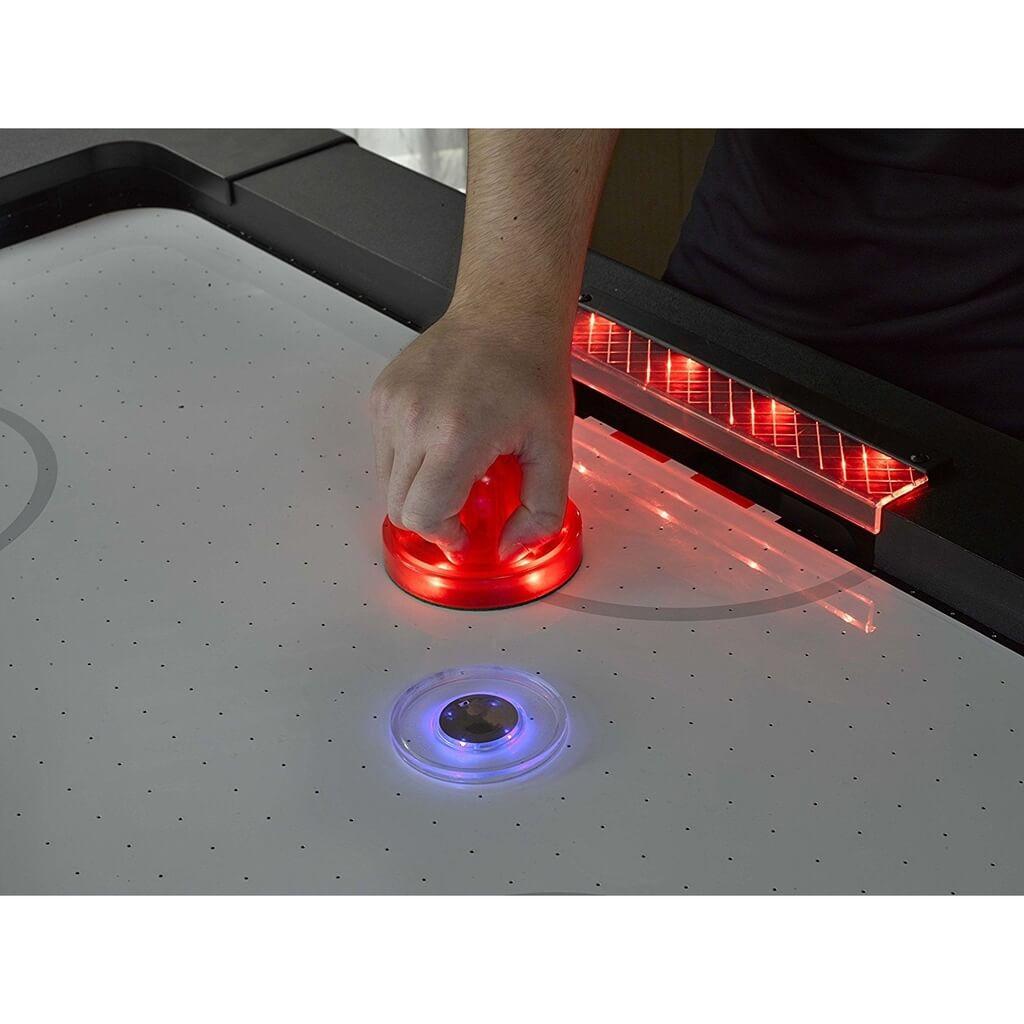 Бита для аэрохоккея LED «Atomic Top Shelf / Lumen-X Laser» D96 мм, красная