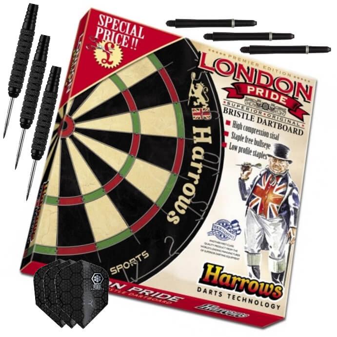 Комплект для игры в дартс Harrows Black London