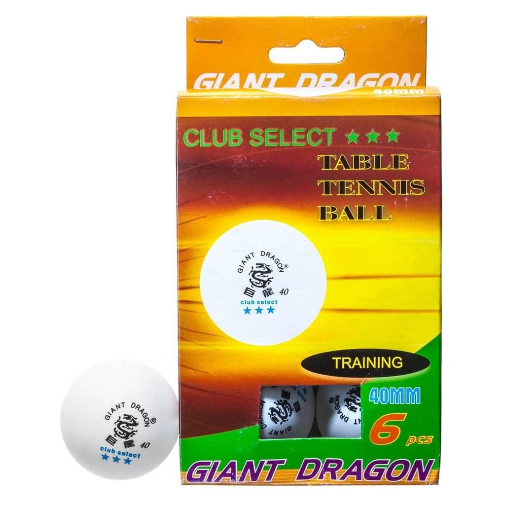 Комплект мячей для настольного тенниса «Club Select***», 6 шт./компл.