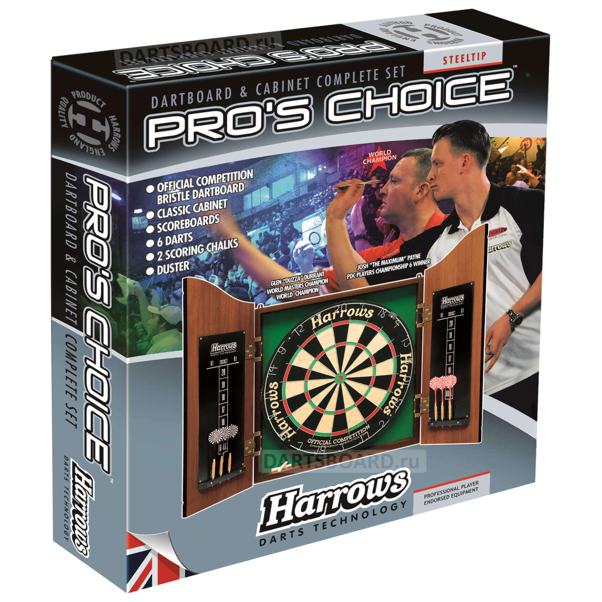 Комплект для игры в Дартс Harrows Pro's Choice