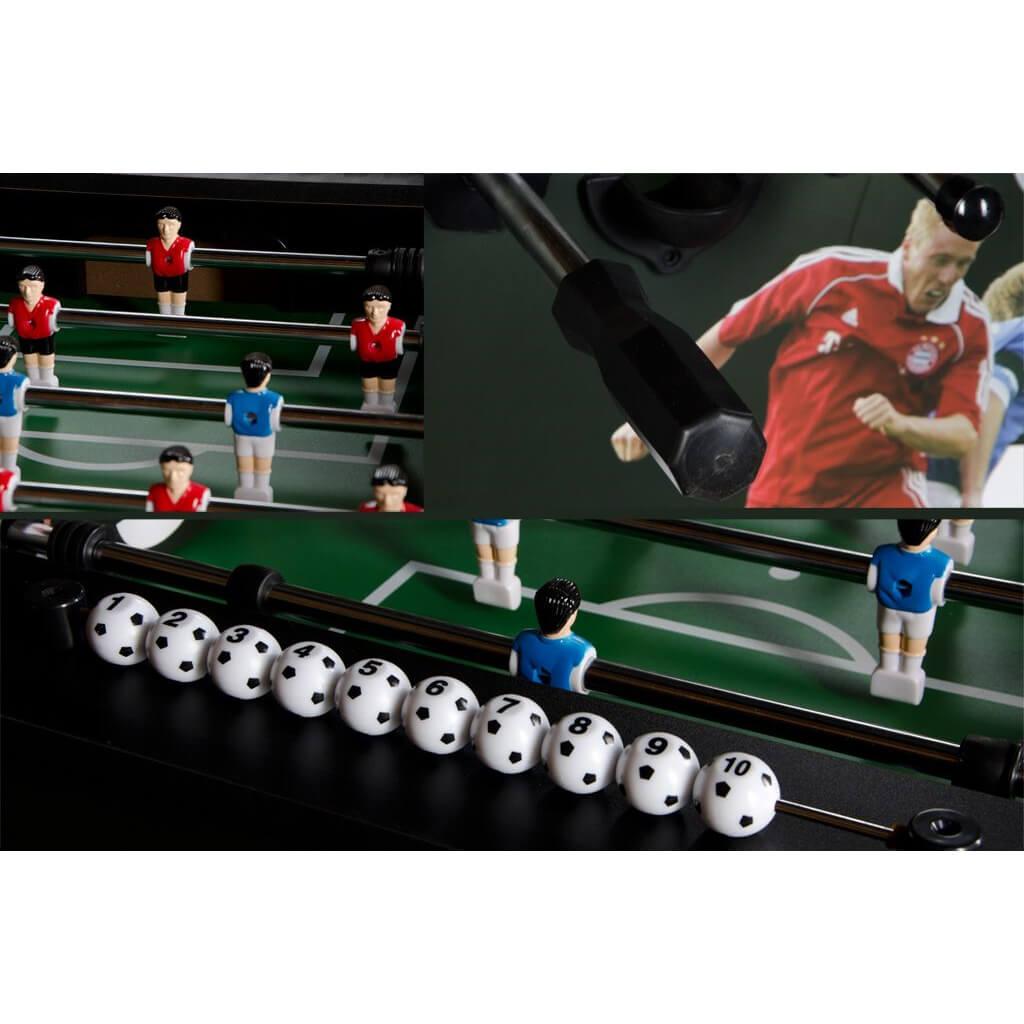 Настольный футбол (кикер) «Roma VI» (140x76x87 см, серо-черный)