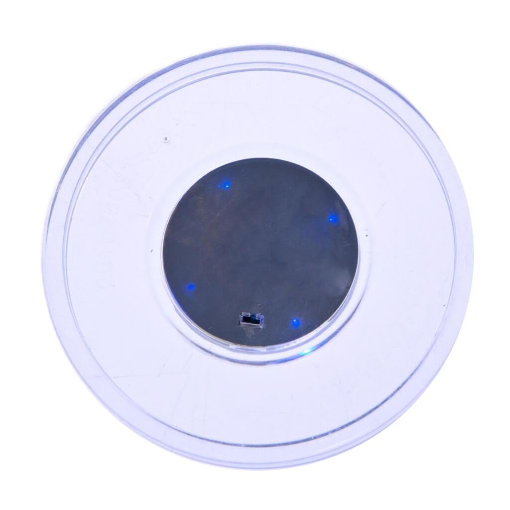 Шайба для аэрохоккея LED «Atomic Top Shelf» (прозрачная, синий светодиод) D76 mm