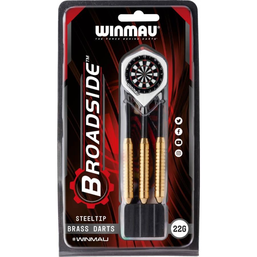 Дротики Winmau Broadside Brass steeltip 22gr (начальный уровень)