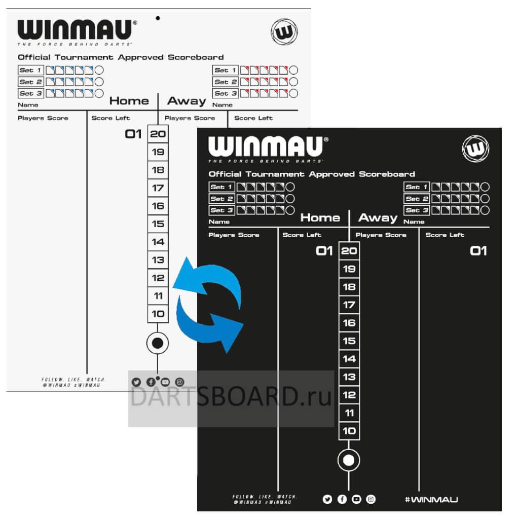 Доска для записи счета Winmau Scoreboard дартс